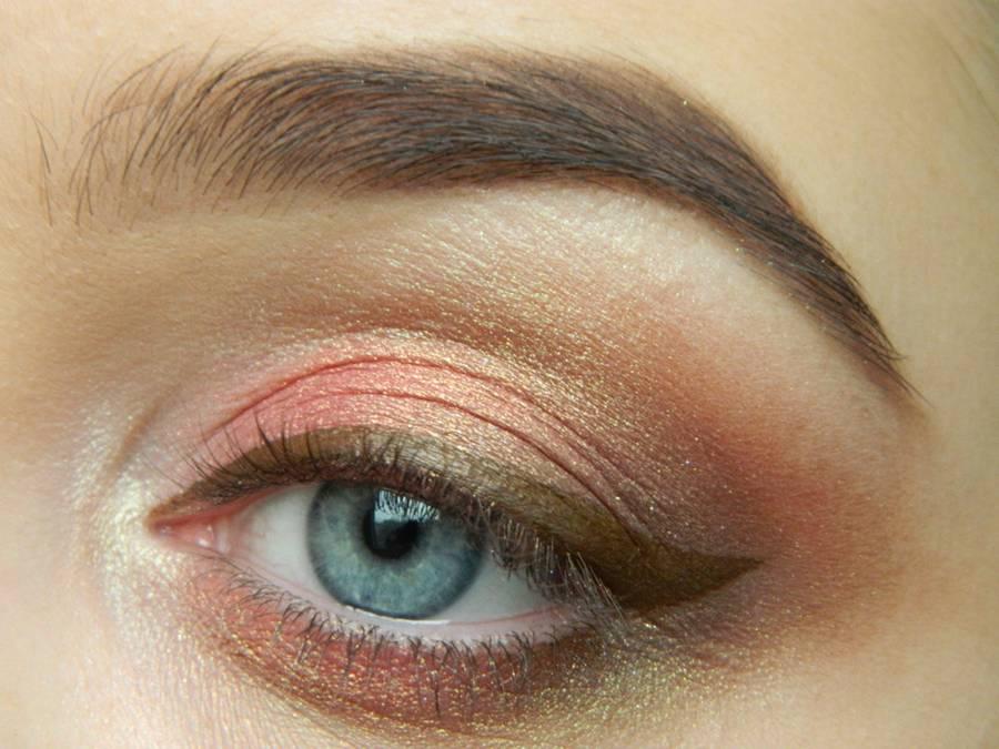 Как сделать дневной макияж в персиковых тонах шаг 10