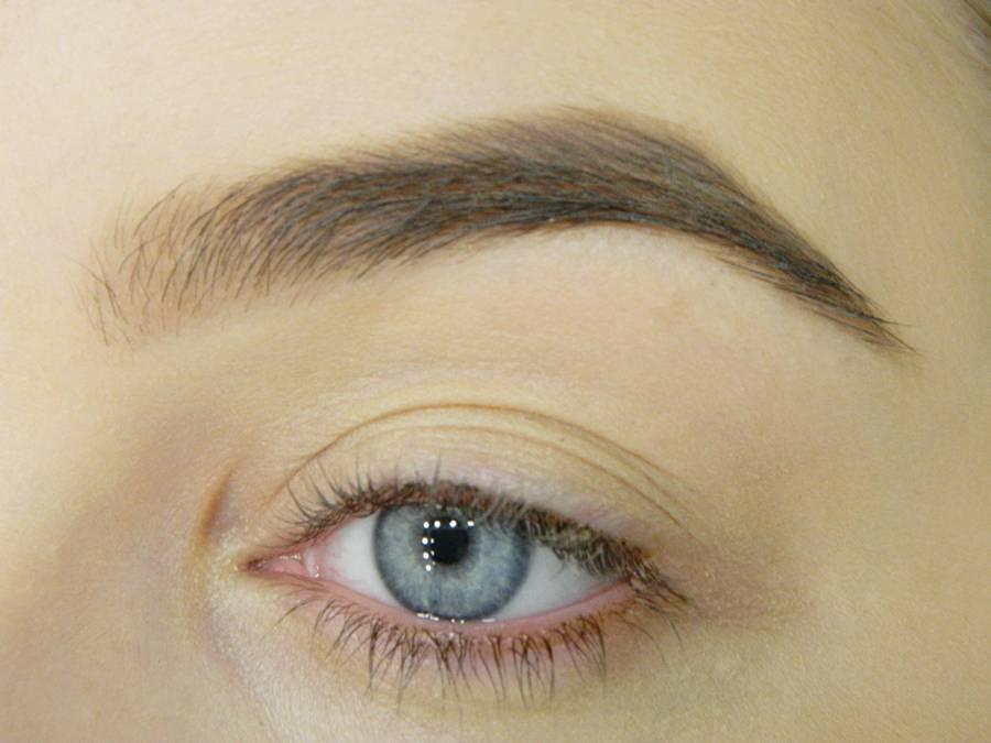 Почти готовая к макияжу глаз кожа