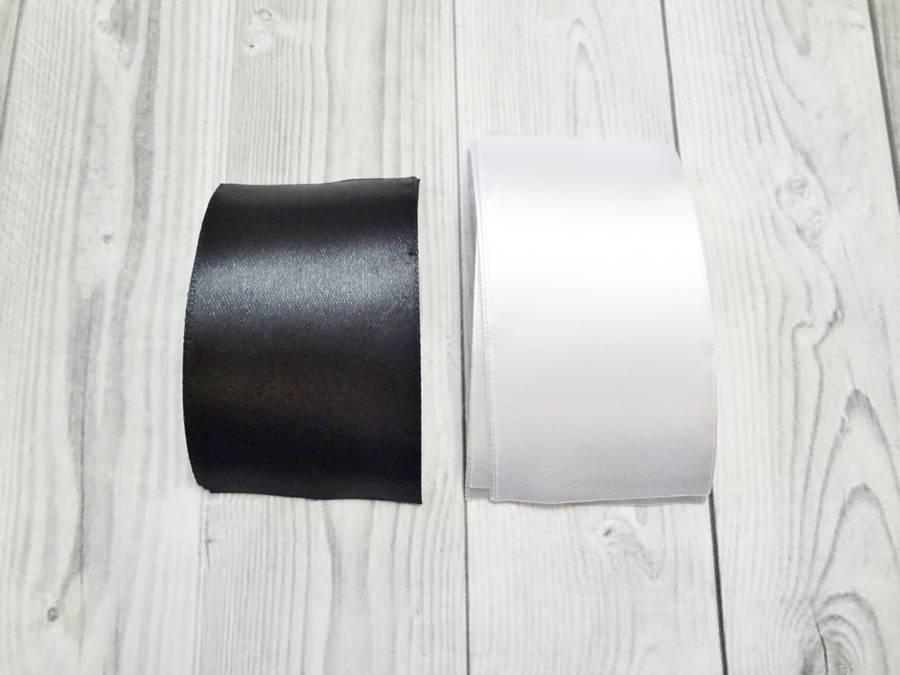 Изготовление банта на резинке для волос в технике канзаши шаг 11