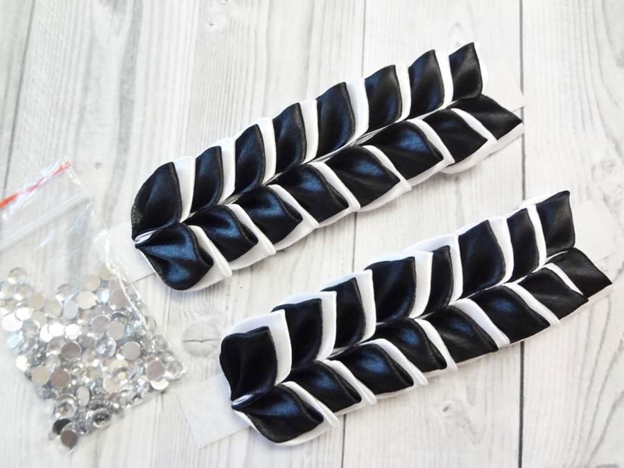 Изготовление банта на резинке для волос в технике канзаши шаг 7