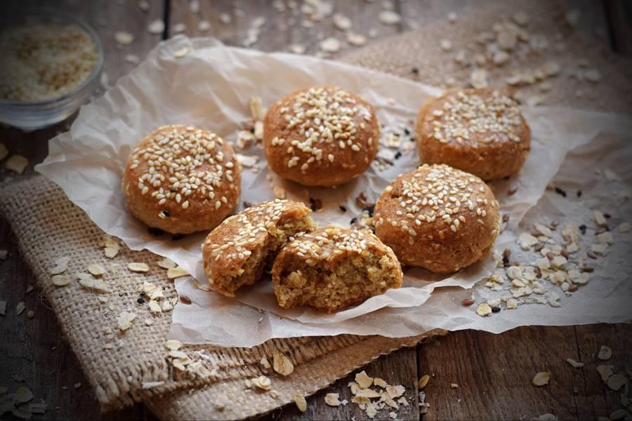 Овсяное печенье с кунжутом