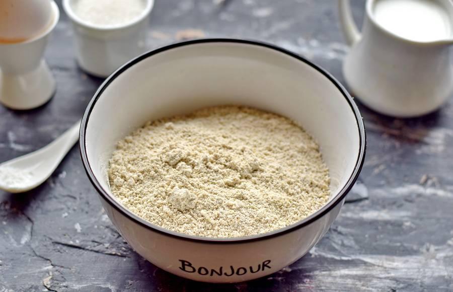Приготовление овсяного печенья с кунжутом шаг 1