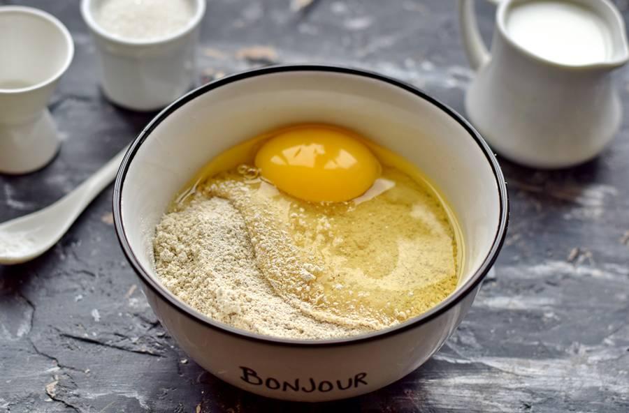 Приготовление овсяного печенья с кунжутом шаг 2