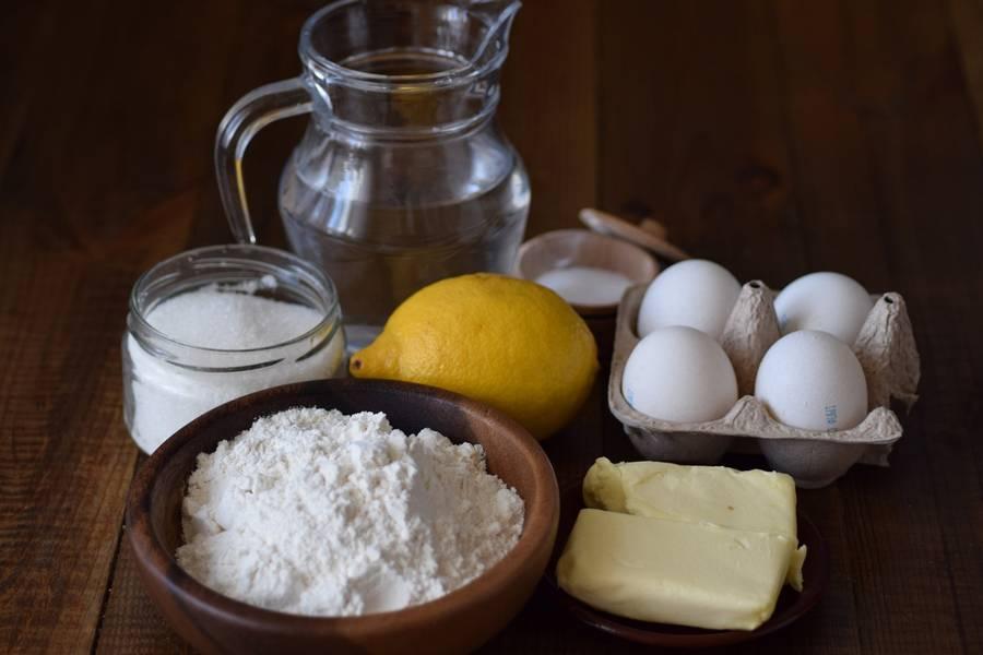 Ингредиенты заварного печенья