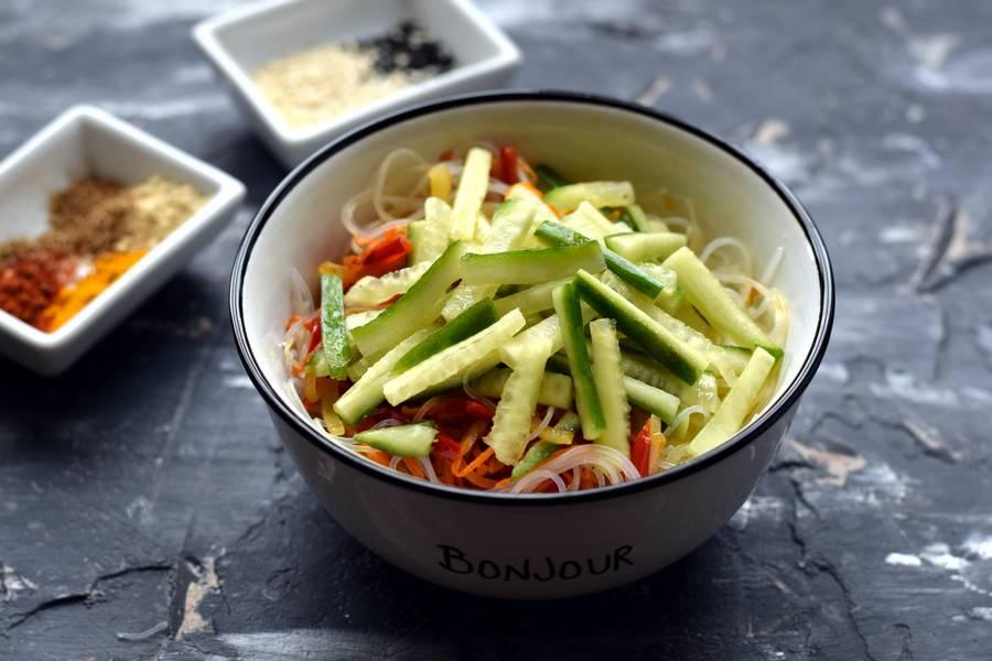 Приготовление фунчозы с овощами шаг 8