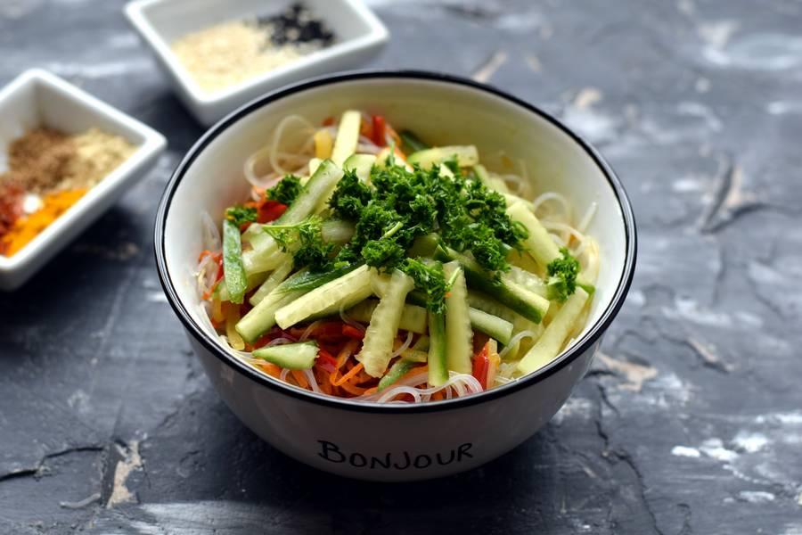 Приготовление фунчозы с овощами шаг 9