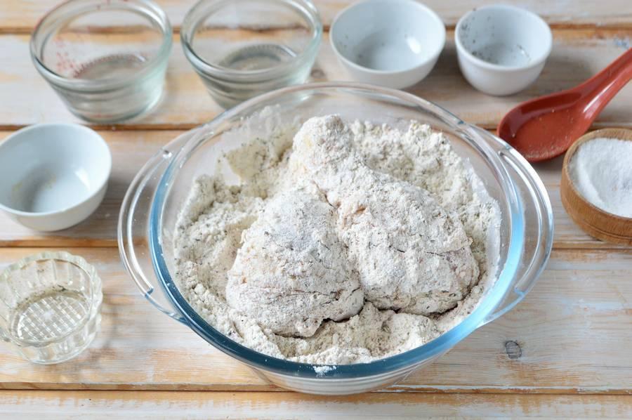Приготовление голени в пряной панировке шаг 6