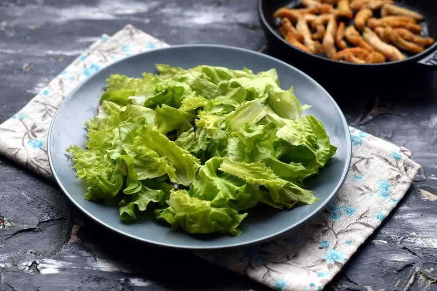 Приготовление салата с авокадо и курицей шаг 3