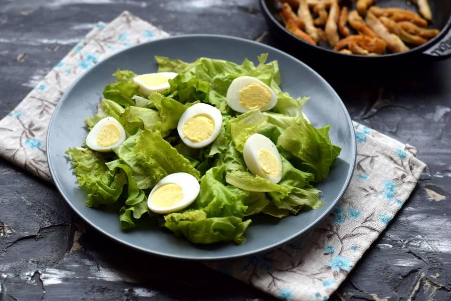Приготовление салата с авокадо и курицей шаг 4