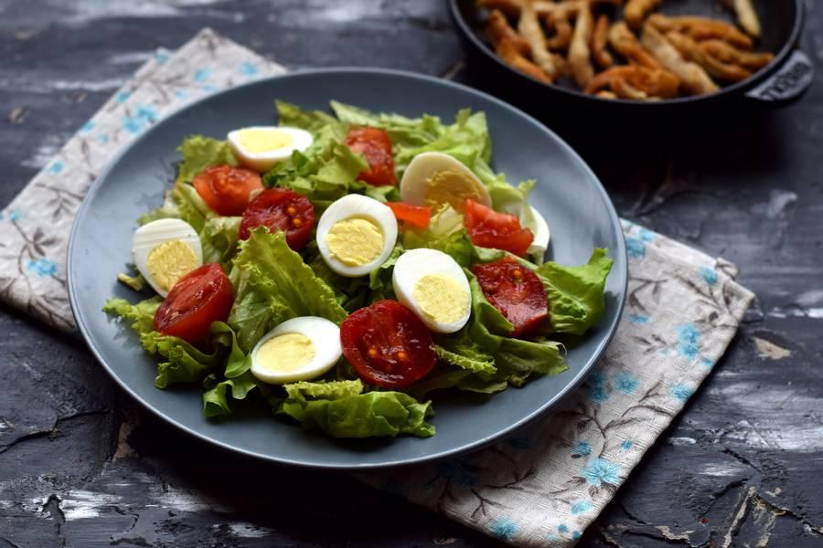 Приготовление салата с авокадо и курицей шаг 5