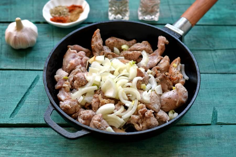 Приготовление картофеля по-деревенски с индейкой шаг 2