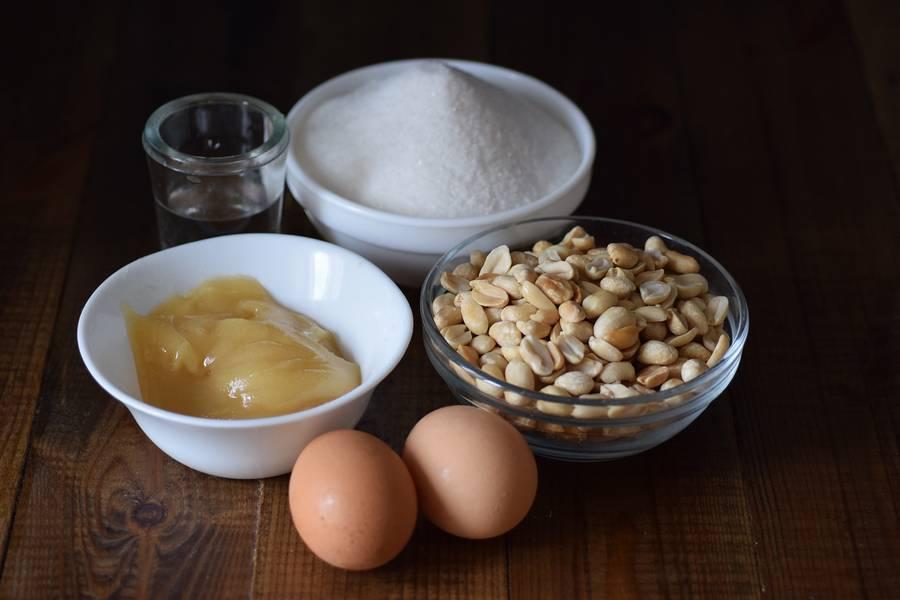 Ингредиенты нуги с арахисом