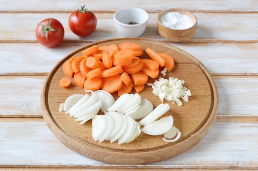 Приготовление курицы с овощами в духовке шаг 3
