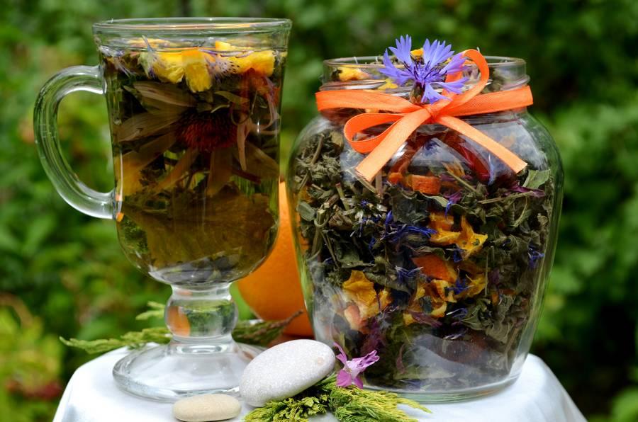 Самодельный травяной чай