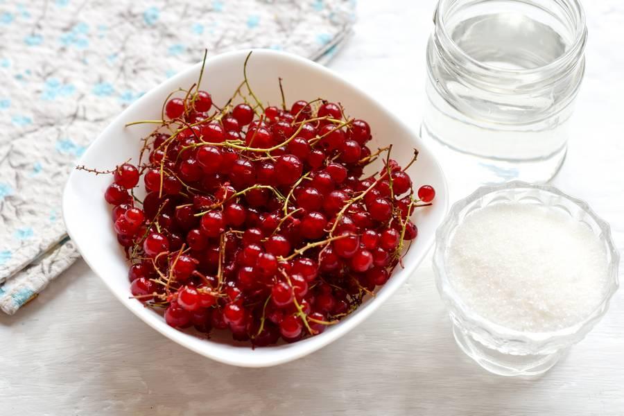 Ингредиенты компота из красной смородины