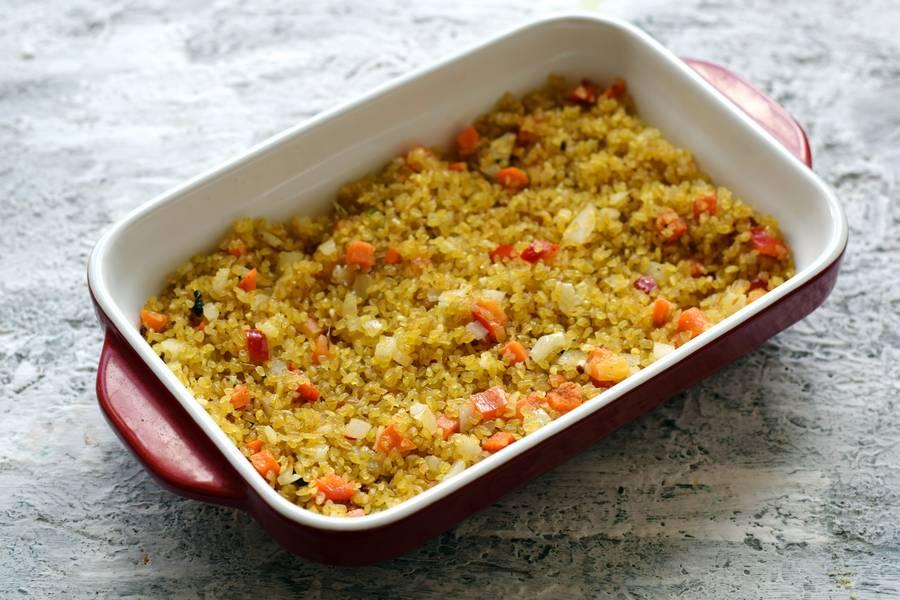 Приготовление булгура с курицей и овощами шаг 7