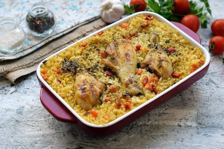 Приготовление булгура с курицей и овощами шаг 9