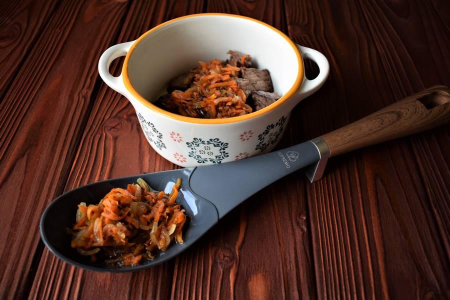 Приготовление в духовке супа с макаронами шаг 4