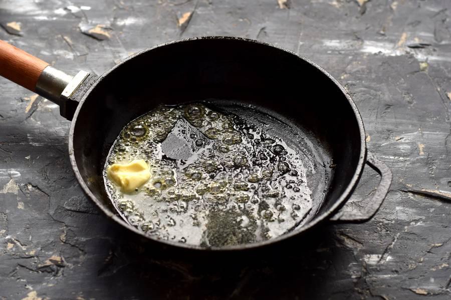 Приготовление фетучини с сыром и грибами шаг 5