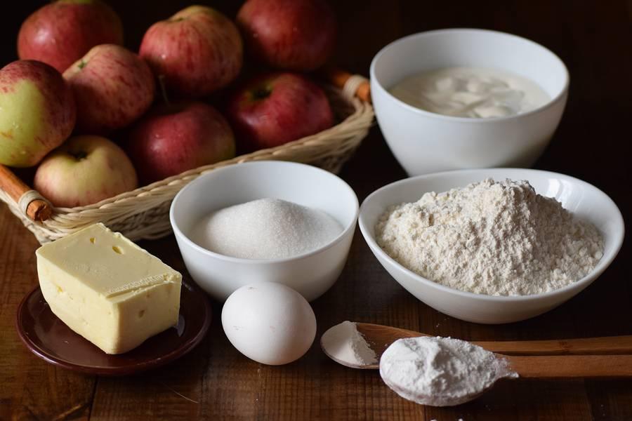 Ингредиенты цветаевского яблочного пирога