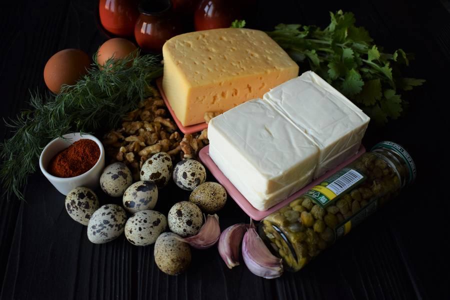 Ингредиенты цветных сырных шариков