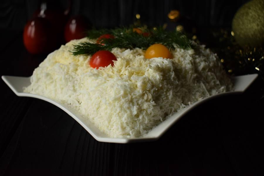 Мясной салат Новогодний