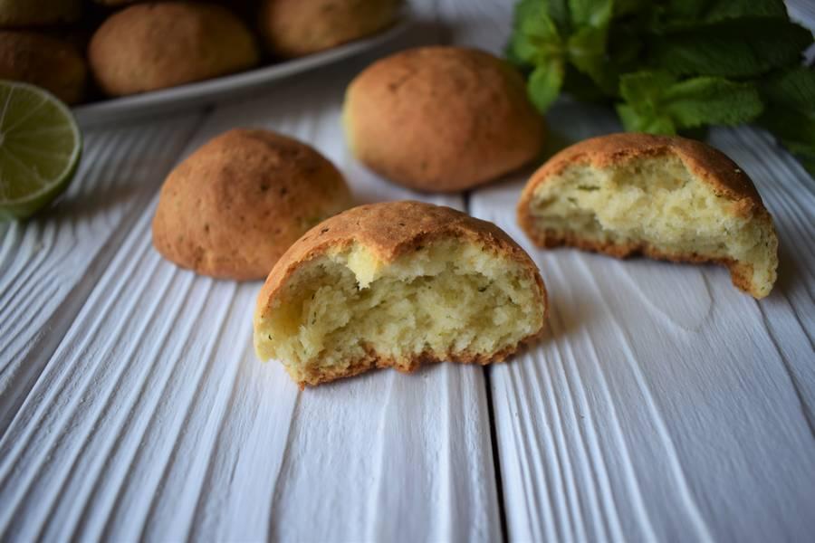 Песочное печенье с мятой и лаймом