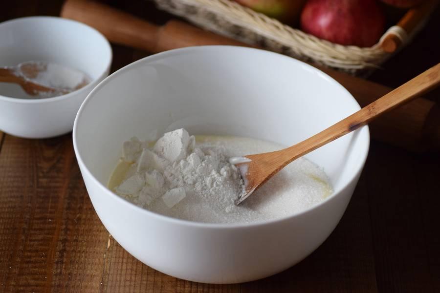 Приготовление цветаевского яблочного пирога шаг 7