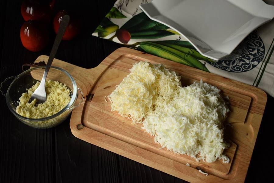 Приготовление новогоднего салата с мясом шаг 2