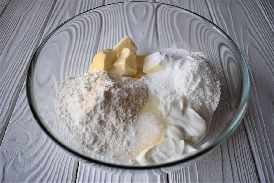 Приготовление песочного печения с мятой и лаймом шаг 3