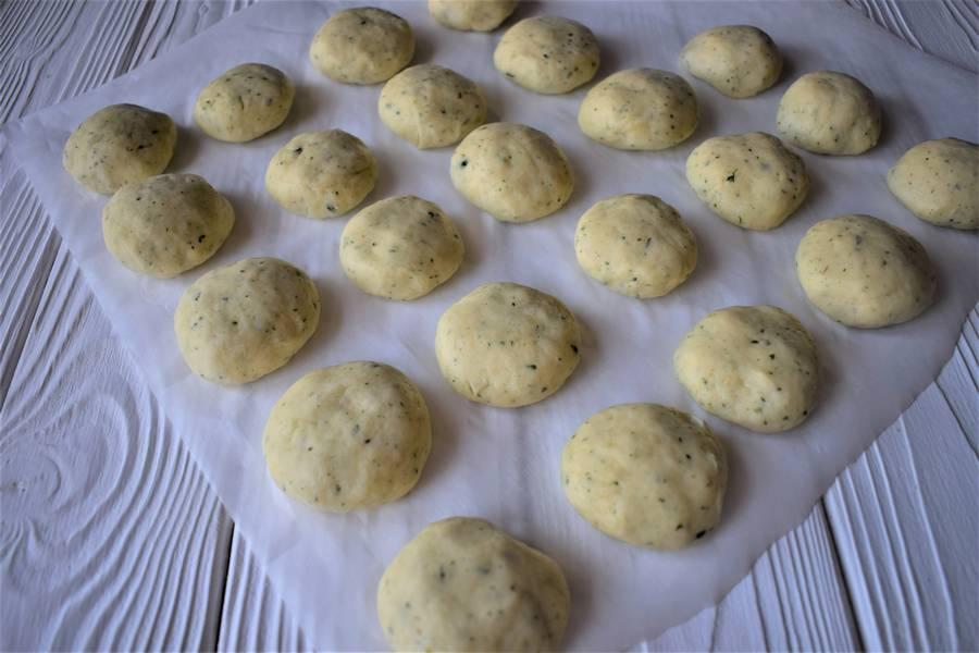 Приготовление песочного печения с мятой и лаймом шаг 6