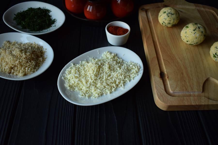 Приготовление сырных шариков шаг 10