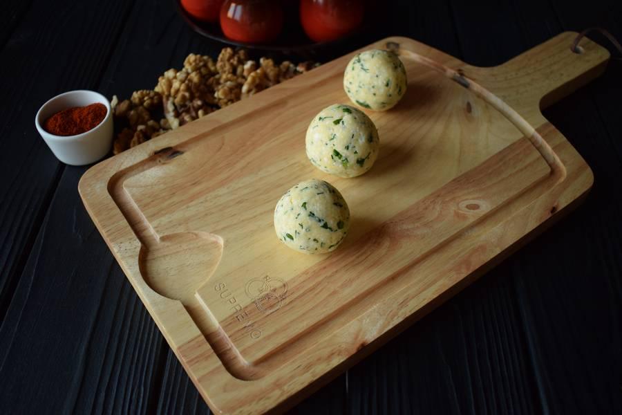 Приготовление сырных шариков шаг 7