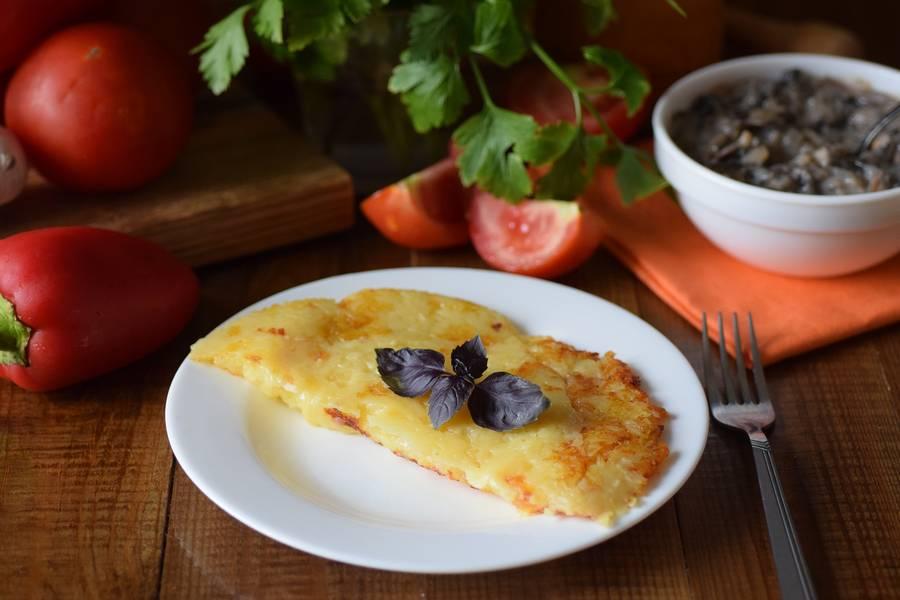 Решти из картофеля с грибным соусом