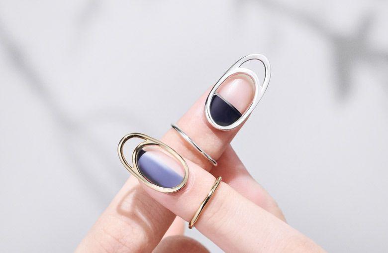 Кольцо Unistella, повторяющее ноготь