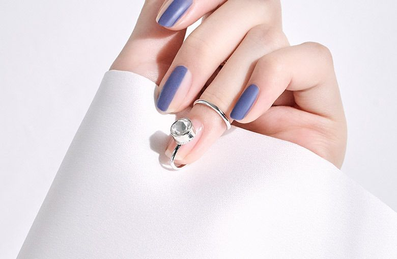 Кольцо на ноготь Unistella с кристаллом Сваровски