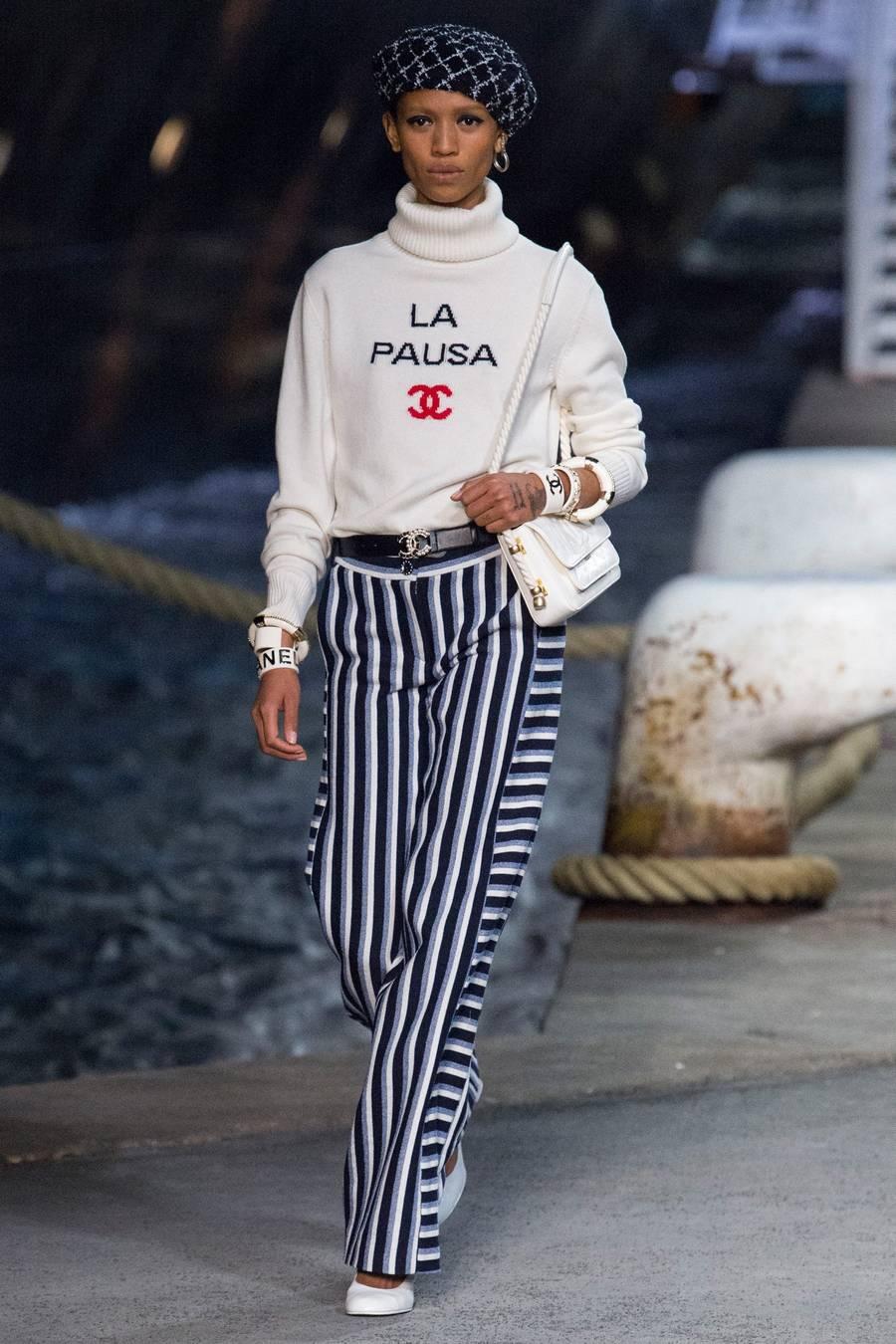 Круизная коллекция Chanel, весна-лето 2019 выход 3