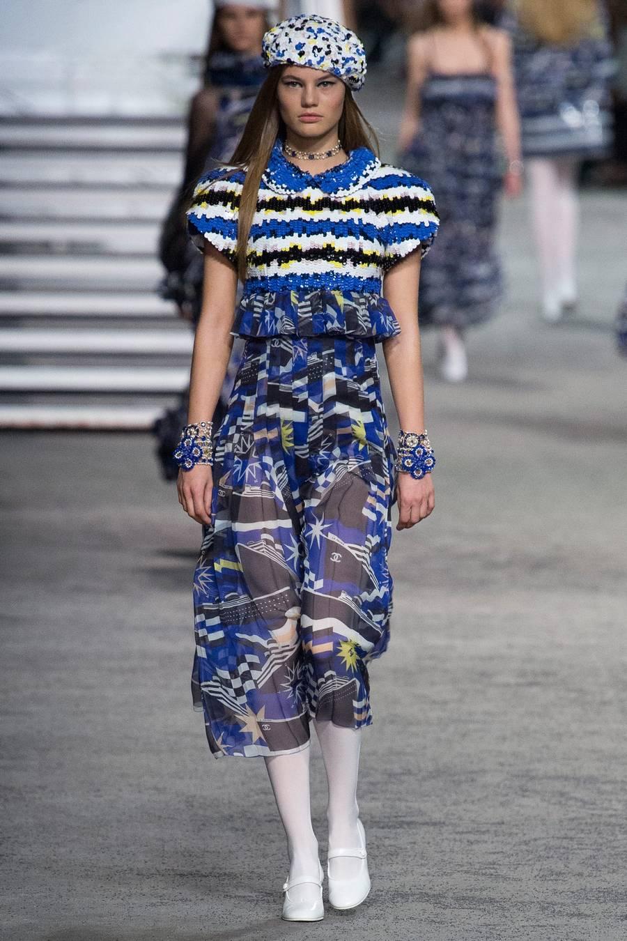 Круизная коллекция Chanel, весна-лето 2019 выход 87