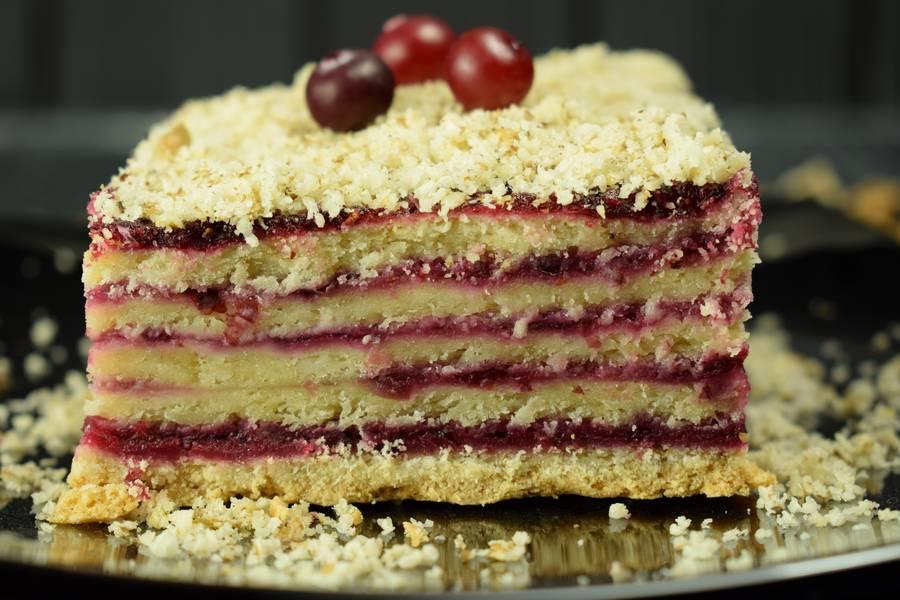 Пирог клюквенный