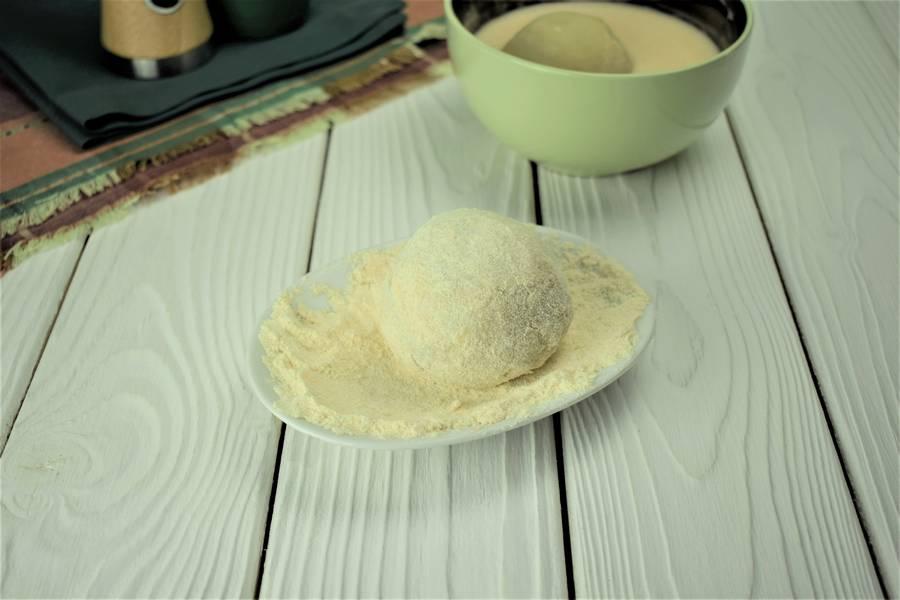 Приготовление картофельных шариков с мясом шаг 7