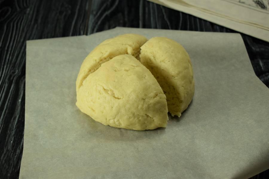 Приготовление клюквенного пирога шаг 4