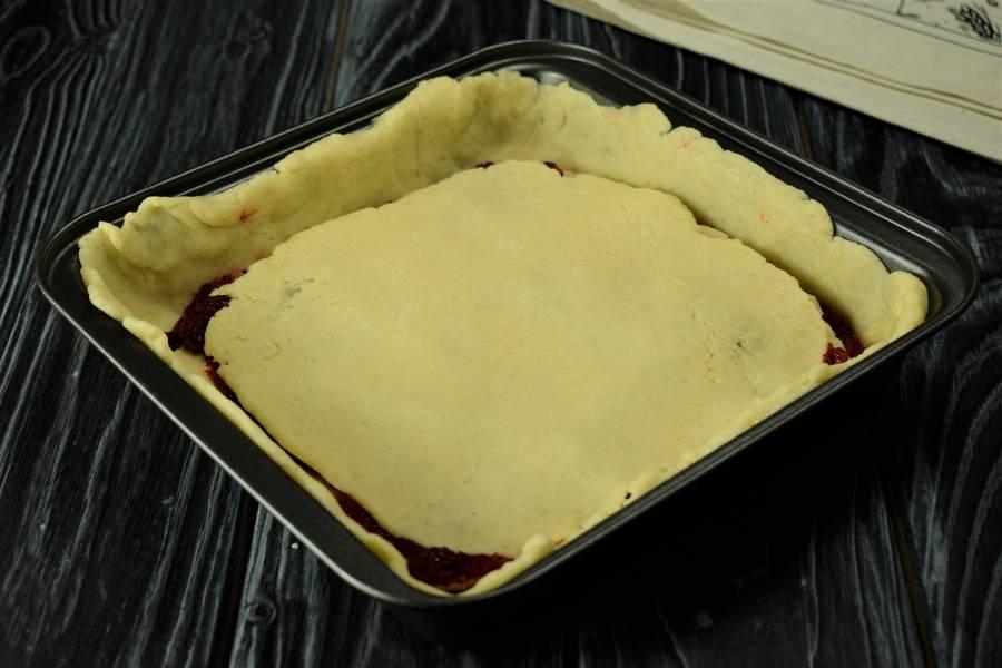 Приготовление клюквенного пирога шаг 9