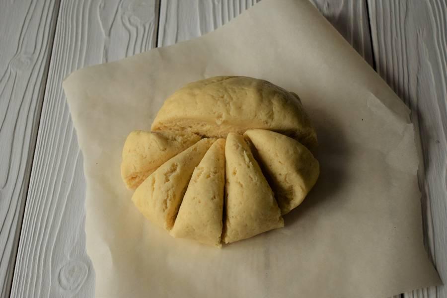 Приготовление открытых песочных яблочных пирожков шаг 6