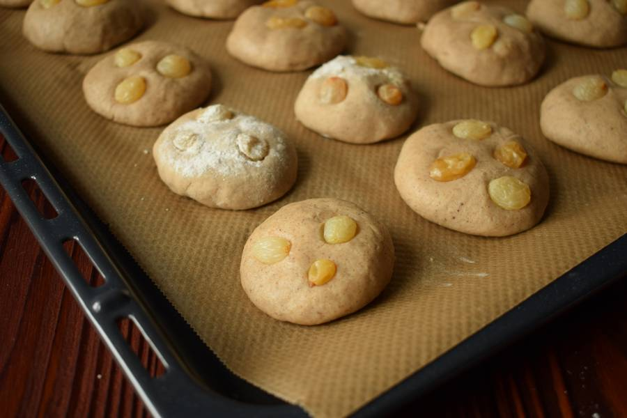 Приготовление овсяного печенья с изюмом шаг 5