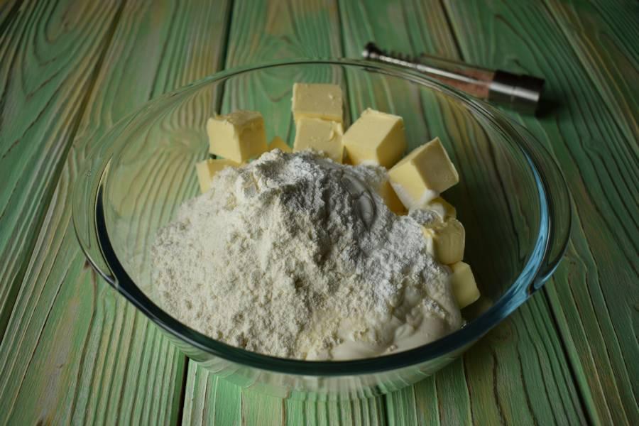 Приготовление соленого песочного печенья шаг 1