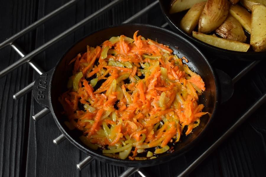 Приготовление в горшочках телятины с картофелем и грибами шаг 7