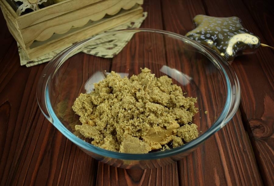 Приготовление орехового песочного печенья шаг 1