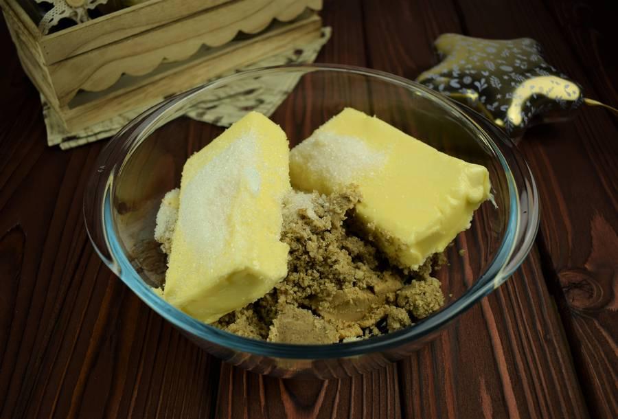 Приготовление орехового песочного печенья шаг 2