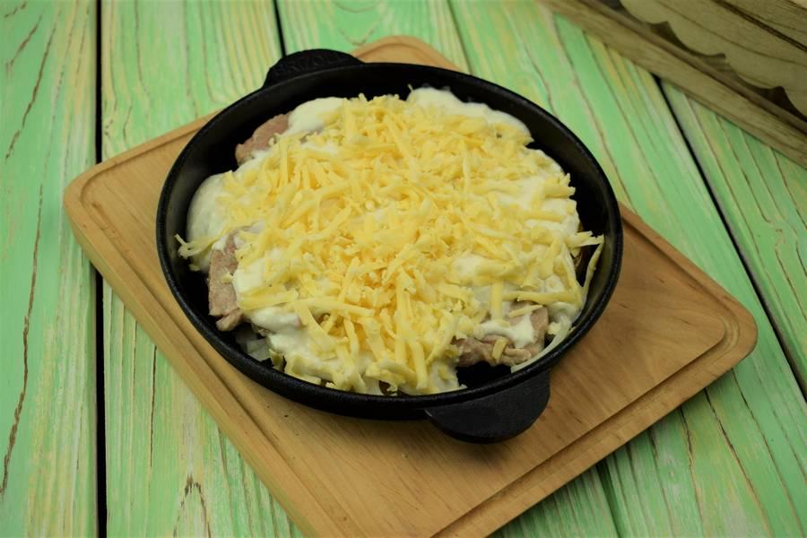 Приготовление жаркого из свинины с картофелем шаг 12