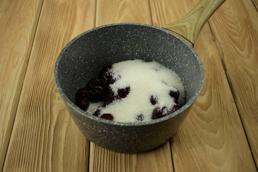 Приготовление домашнего йогурта с вишней шаг 1